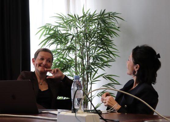 Karine Porcedda-Loiseau et Christine Bellin